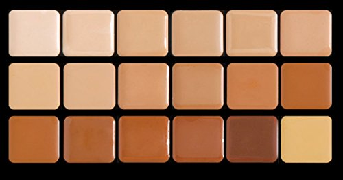Graftobian Creme Foundation Super Palette Makeup Kit - 18 Warm HD Full Coverage Pigment Concealers for Smooth, Buildable Application and Creaseless Finish