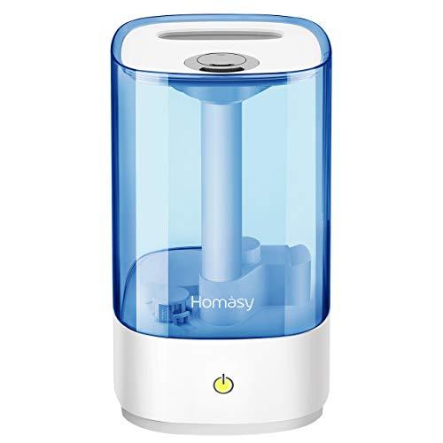 [Verbesserte] Homasy 4.5L Ultraschall Luftbefeuchter, Top-Füllung Humidifier Baby bis zu 40-50m², Ultra Leise Raumbefeuchter Schlafzimmer, Luftbefeuchter Büro mit Schlafmodus, 30h Arbeitszeit-Blau