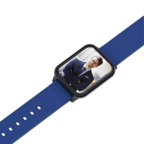 Hunterace Sport Smart Bracelet Fitness Tracker para Hombres Mujeres Niños Multifunción PPG Monitor de presión Arterial Monitor de Ritmo cardíaco Pulsera-Azul