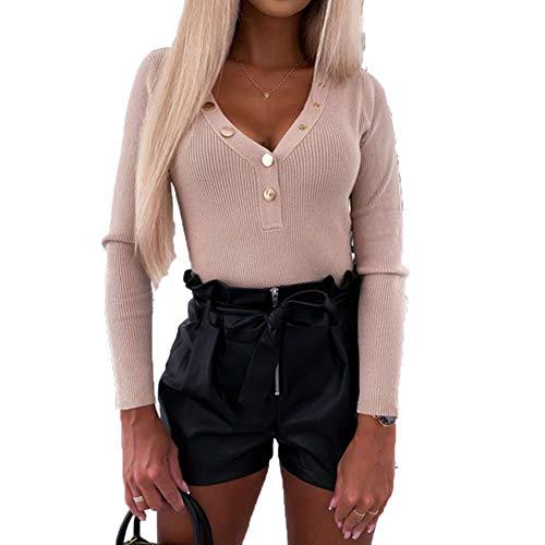 Herbst Und Winter Frauen Einfarbig Langarm Bottoming Shirt Sweater Top Frauen