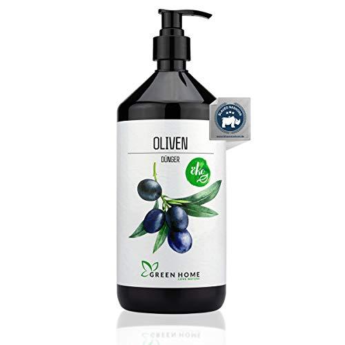GREEN HOME LOVE NATURE®️ 1L Olivenbaum Dünger mit hohem Nährstoffgehalt - nachhaltiger Dünger für Olivenbaum einfach zu dosieren - Made in Germany