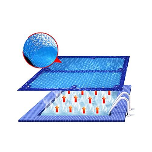 XYUfly20 600 Mikron Solardecke Mit PE-Luftpolsterfolie Bedeckt Wärmedämmdecke Für Unterirdische Und Oberirdische Rechteckige Schwimmbecken (22 Größen) (Color : 600...