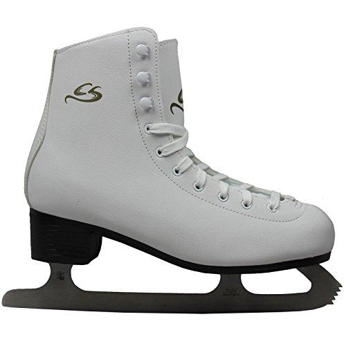 Cox Swain Figure Damen + Kinder Eiskunstlauf Schlittschuh -LOHJA- alle Größen, Weiß - Gr. 38