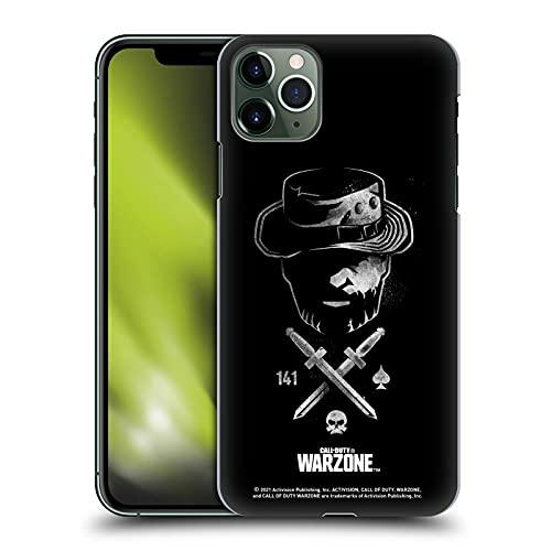 Head Case Designs Licenciado Oficialmente Activision Call of Duty Warzone Cuchillos Capitán Price Blanco y Negro Carcasa rígida Compatible con Apple iPhone 11 Pro MAX