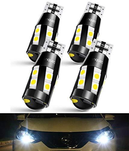 T10 W5W LED Canbus Lampadine, 3030 SMD Luce di Parcheggio, Luce Targa Auto 555 501 558 2825 175 192 168 194, 12V, 6000K Bianco, 4 Pezzi