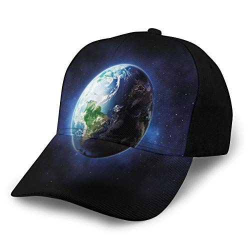 Sports Hat Lightweight Soft Run Cap Starry Outer Space View with Planet...