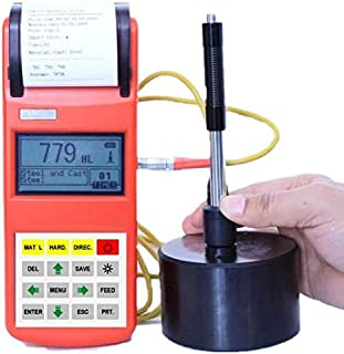 GAO-PHT-107 Portable Hardness Tester with 3 Inch Large Screen, LCD Display with Backlight, HL-HV-HB-HRC-HRA-HRB-HS Hardness Conversion, Memory 500 Groups, Measuring Range 170~960 HLD