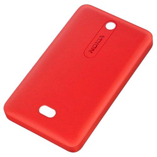 Nokia Asha 501& 501Dual SIM Copribatteria Originale Rosso Brillante coperchio della batteria Back Cover Copri Batteria Copribatteria Patta