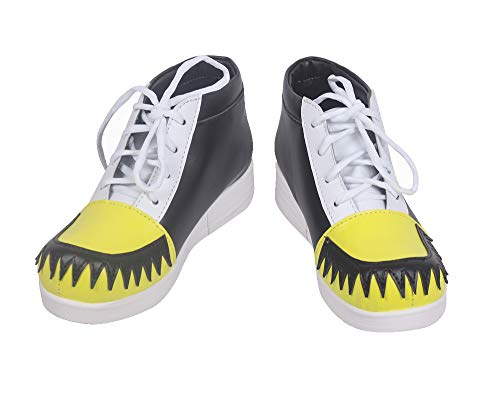 Soul Evans Demon Scythe Meister Academy Anime Ver. Cosplay Shoes S008 (Male US 7.5/EU40.5) Yellow
