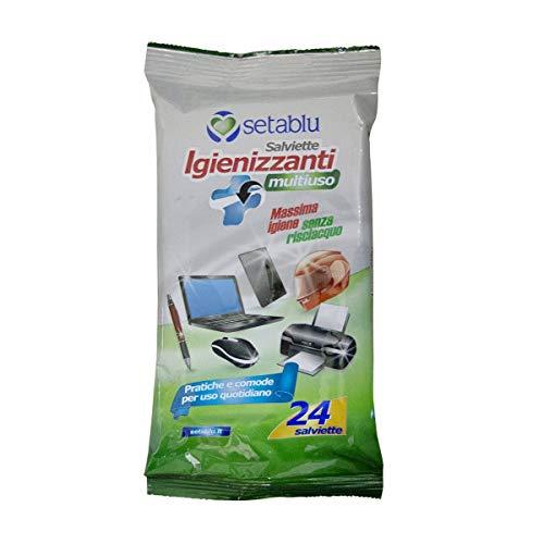 Mediawave Store 592202 - Toallitas limpiadoras para ordenador portátil, smartphone, tablet, limpieza de pantalla, teclado y accesorios, 24 unidades
