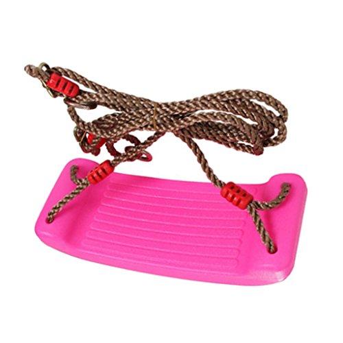 4CM Epais Siège Balançoire Extérieure Avec Réglable Ropes Playground Jouet Jardin Enfant Cadeau - Rose