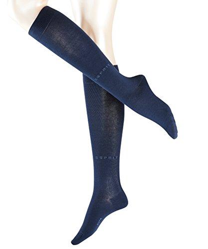 ESPRIT Damen Basic Pure W KH Socken, Blickdicht, Blau (Marine 6120), 39-42 (UK 5.5-8 Ι US 8-10.5) (2er Pack)