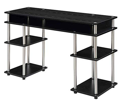 Convenience Concepts Designs2Go No Tools Student Desk, Black