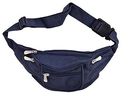 Sacoche de ceinture / sac banane fourre-tout en nylon froissé à 6 à zip