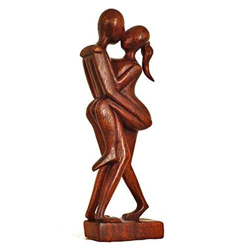 Simandra Holz Figur Skulptur Abstrakt Holzfigur Statue Afrika Asia Handarbeit Deko Akt Größe 30 cm