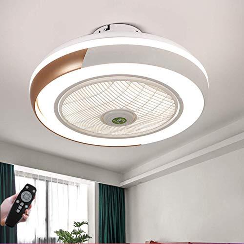 Fan Deckenleuchte Kreative Moderne Deckenleuchte LED Dimmbar Deckenventilator Mit Beleuchtung Und Fernbedienung Leise Kinderzimmer Schlafzimmer Wohnzimmer Beleuchtun,Gold