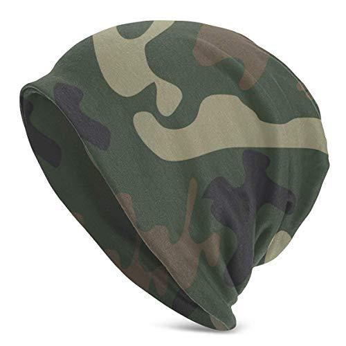 XCNGG Gorros de Punto con Textura de Camuflaje para Hombres y Mujeres Sombreros de Invierno Gorros de Cobertura
