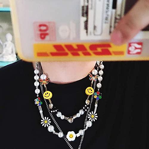 『韓国 ネックレス ニコちゃん パール オルチャン デイジー スマイル [Honeybee]』の3枚目の画像