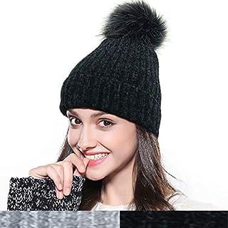 Womens Beanie Hat Slouchy Winter Pom Pom Beanie for Women Skull Ski Cap