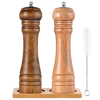 SZUAH Salt and Pepper Grinders,Salt and Pepper Mills Shakers with Cleaning Brush, Ceramic Rotor with Strong Adjustable Coarseness[Set of 2]?