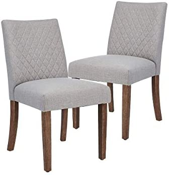 2-Pack CangLong Upholstered Dining Chair (Gray)
