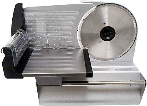 Aluminium I Allesschneider I 200 Watt I Alles Schneider I Wellenschliffmesser I Edelstahl I Aluminium Gehäuse I Brotmaschine