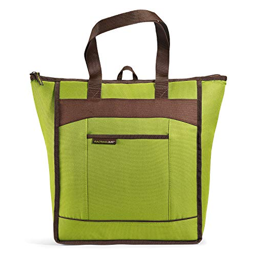 Rachael Ray ChillOut Thermal Tote Bag for Cold or Hot Food, Insulated, Reusable, Green
