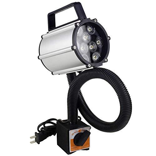 LED Work Light IP66 Waterproof Gooseneck Lamp 9W Magnetic CNC Machine Light 120V Aluminum alloy for Crafts, Sewing, Lathe, Drill press, Workbench