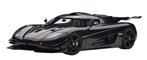 Koenigsegg One: 1 Clear Carbon Fiber with Gold Stripes 1/18 Model Car by Autoart 79019