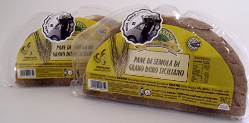 Italienisch - Papa Vince Brot der Kleie des Sizilianischen Hartweizen- 2 Paken 900g