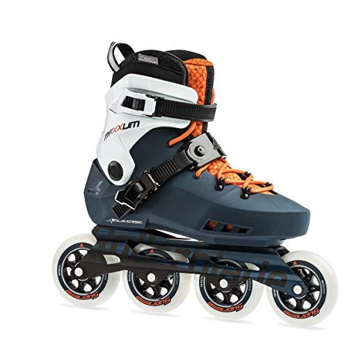 Rollerblade Maxxum Edge 90 Mens Adult Fitness Inline Skate, Sapphire and Orange, Premium Inline Skates, US Size 5
