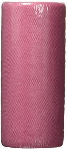 Falk Tulle Fine Maille 15,2 cm Large 22,9 m Spool-Dark Rose