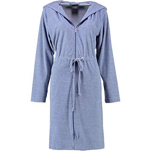 Michaelax-Fashion-Trade Cawö - Damen Wirkvelours-Kurzmantel mit Kapuze und Reißverschluss (817), Größe:44/46, Farbe:Denim (11)