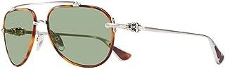 Chrome Hearts - Spinner - Sunglasses (Matte Butterscotch Tortoise/Brushed Silver, Polar Green)
