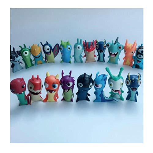 PsWzyze 24 Piezas/Lote Diferentes Dibujos Animados Anime Toys 5cm Slugterra PVC Modelo Juguetes Muñecas Niño Colección de Juguetes Decoración del hogar