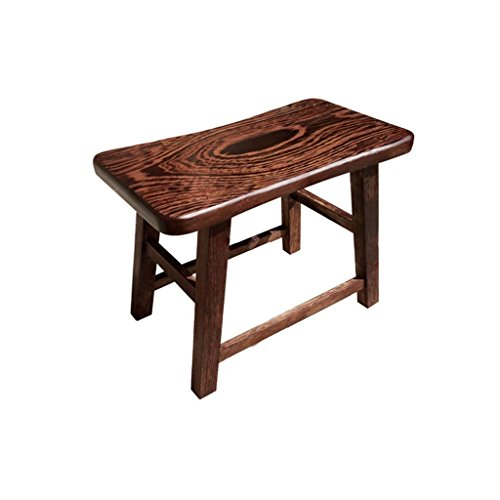 Lowest Prices! TYTZSM TZSMXZD Solid Wood Stool Bathroom Stool Seats Retro Style Moisture-Proof Anti-...