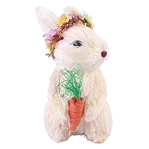 BMWY Cadeaux d'anniversaire Adorno de Conejo Tejido a Mano Decoración de Escritorio de emulación Ornamento de Pascua Cadeaux d'amitié