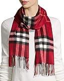 Magic Men's and Women's Checkered Fleece Muffler Cum Scarf (Red, Free Size)