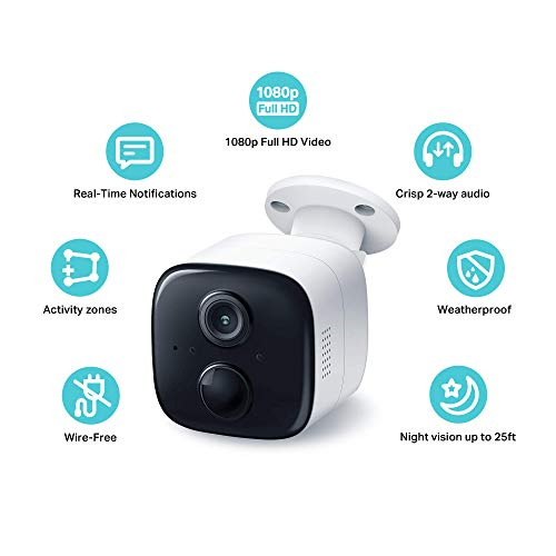 Kasa Home Security Camera System Wireless Outdoor & Indoor Camera KC310S2, 1080P HD with Siren, Night Vision, Battery Rechargeable,Works w/Alexa & Google Home