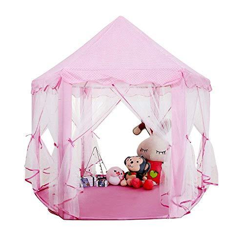 biggroup Casa de Juegos para niños con estantería de PVC Resistente, fácil de Plegar, Castillo de Princesa, Tienda de campaña para niños