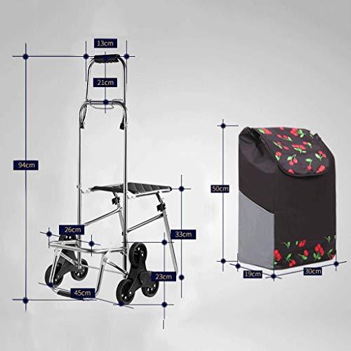 MJY Kreative Bank Pull Cart Falten tragbare Trolley Car Erweiterung Komfort Griff