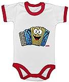 Hariz Baby Body Ringer Acordeón sonriente instrumento niño divertido Plus Tarjeta de regalo blanco/rojo 3-6 meses