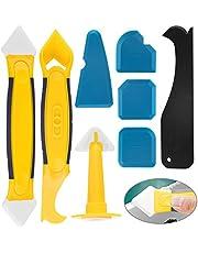Siliconen verwijdering schraper Caulk Tool Kit BETOY 8 Stks Sealant Tool Kit Handig en praktisch met siliconen spatels, Caulk Nozzle en Caulk Caps voor badkamer, hoek, binnen en buiten vullen werk