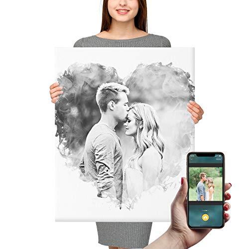 Foto auf Leinwand Bilder Personalisierte Fotos Wandkunst Familie Haustier Muttertag Geburtstag Hochzeits Geschenk,8