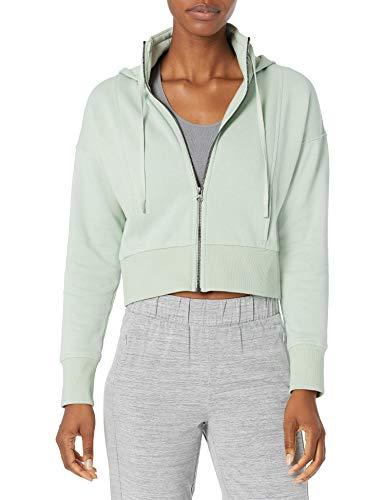 Amazon Brand - Core 10 Women's Super Soft Heavyweight Fleece Relaxed Fit Cropped Sweatshirt, Mint, Large