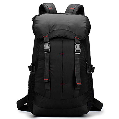 MUCC Outdoor sports backpack, large-capacity camping waterproof hiking hiking bag travel riding backpack 50L,Black