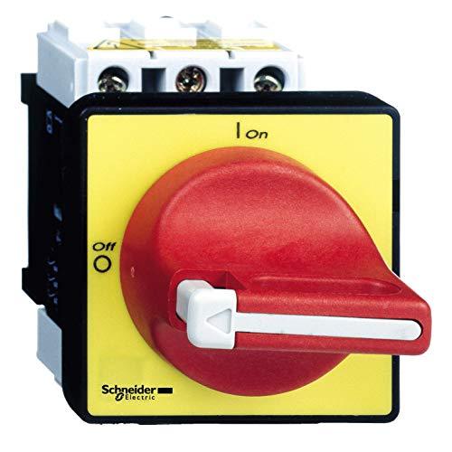 Schneider Electric VCF1 Interruptores Seccionadores de Paro de Emergencia para Montaje en Puerta, 32A