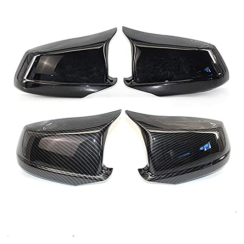 SHOUNAO Ajuste para BMW 5 Series F10 / F11 / F18 Pre-LCI 2011 2012 2012 2013 Coche Retrovisor Espejo Espejo Retrovisor Vista Trasera Cubierta de Espejo Reemplazo Piezas de Repuesto (Color : Black)