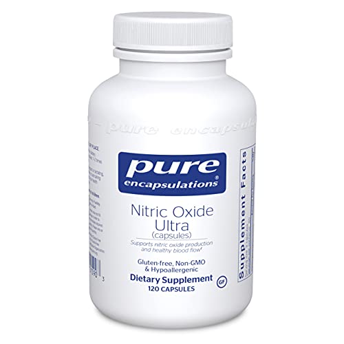 Pure Encapsulations - Nitric Oxide Ultra (Capsules) - Hypoallergenic Supplement Supports Nitric Oxide Production and Healthy Blood Flow - 120 Capsules