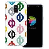 dessana London Muster durchsichtige Schutzhülle Handy Hülle Cover Tasche für Samsung Galaxy A6 (2018) London Undergro&